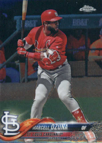 Photo of 2018 Topps Chrome #149 Marcell Ozuna