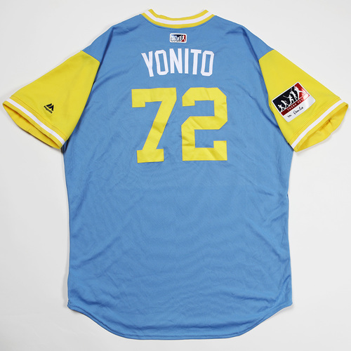 "Photo of Yonny ""Yonito"" Chirinos Tampa Bay Rays Game-Used 2018 Players' Weekend Jersey"