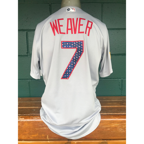 Photo of Cardinals Authentics: Game Worn Luke Weaver 4th of July Jersey