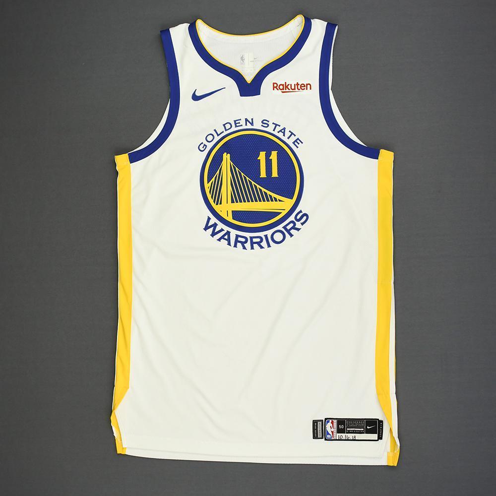Klay Thompson - Golden State Warriors - Kia NBA Tip-Off 2018 - Game-Worn Association Edition Jersey