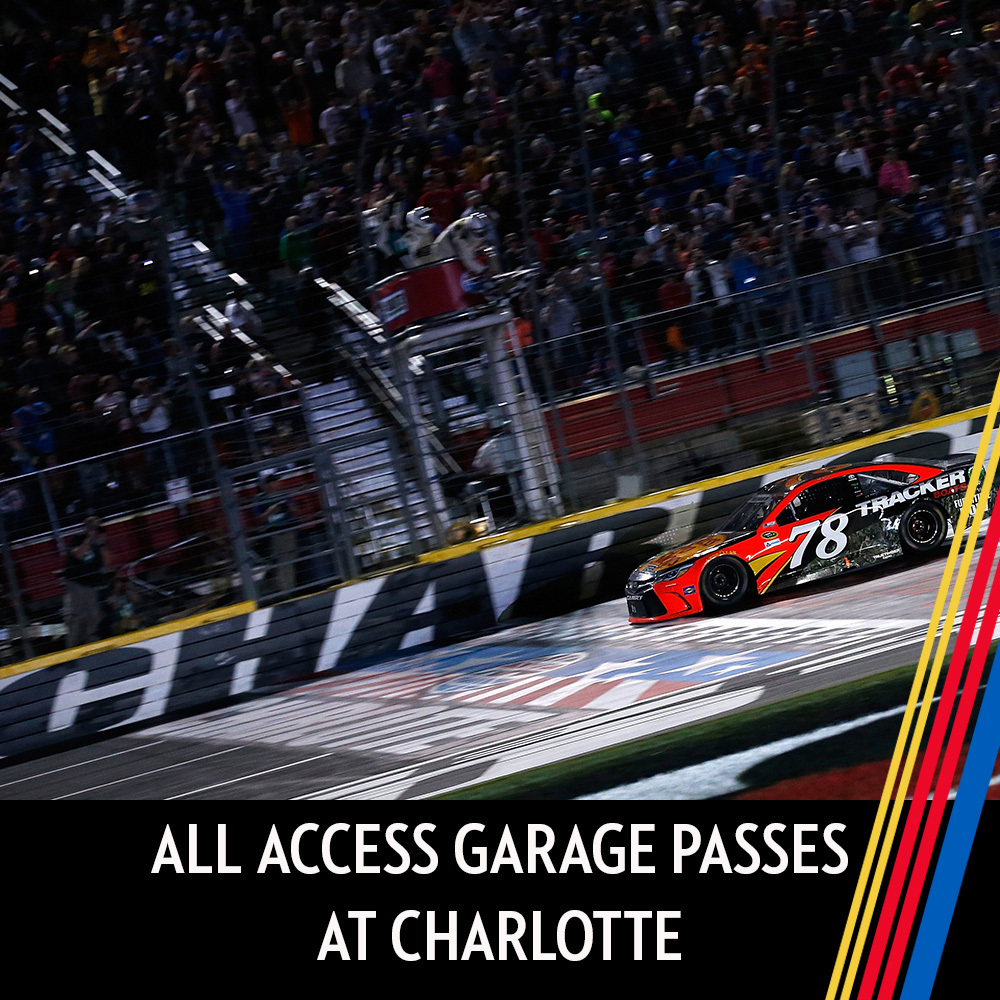All Access Garage Passes at Charlotte for the entire race weekend!
