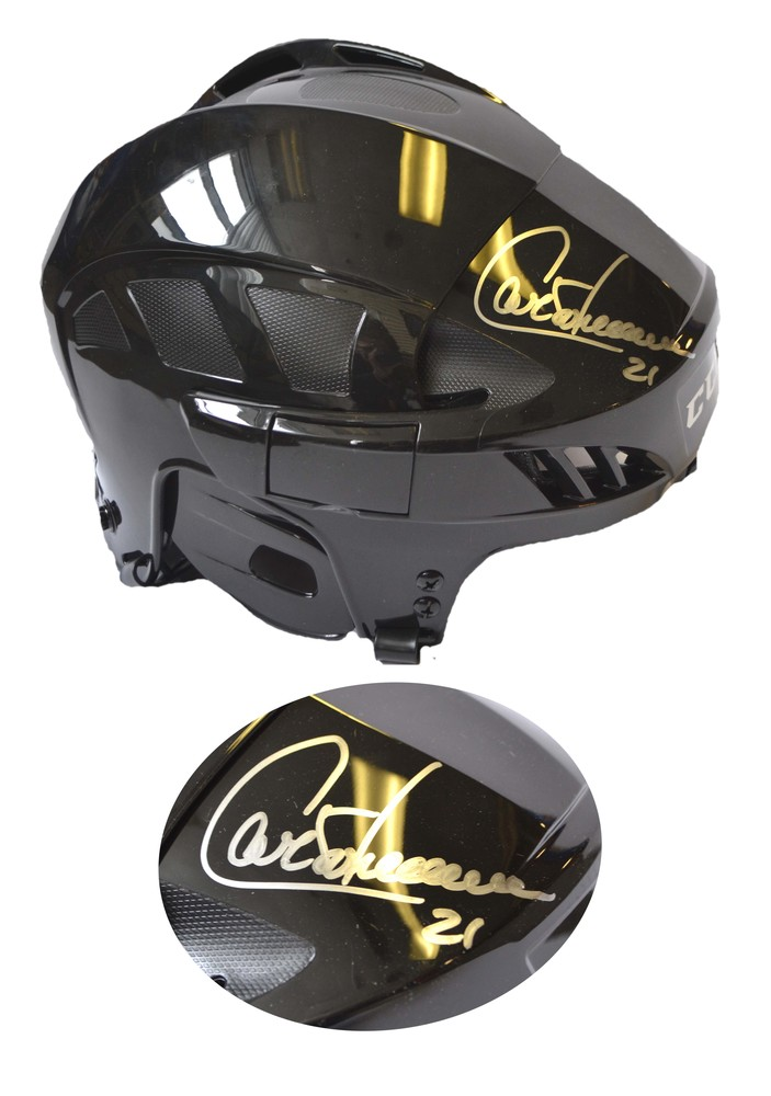 Guy Carbonneau Signed Helmet Black