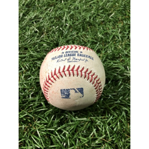 Photo of Game-Used Baseball: Jonathan Villar single and Trey Mancini single off Adam Kolarek - April 18, 2019 v BAL