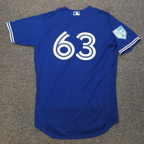 Photo of Authenticated Team Issued 2019 Spring Training Jersey - #63 Dusty Isaacs. Size 46