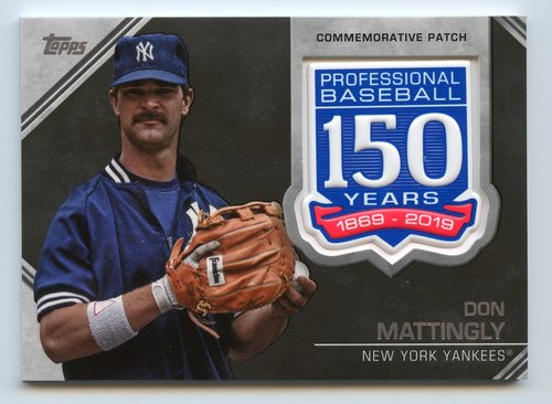Photo of 2019 Topps 150th Anniversary Manufactured Patches #AMPDM Don Mattingly S2