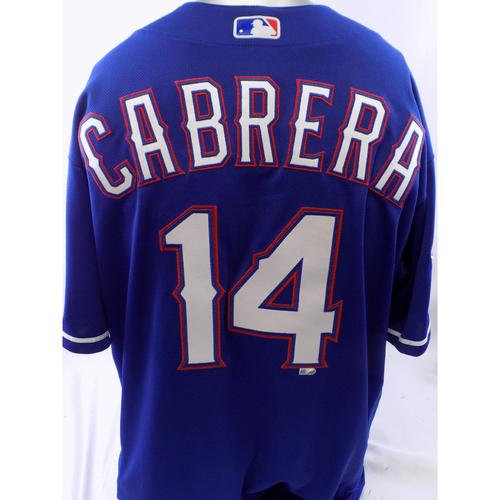 Team-Issued Blue Asdrubal Cabrera Jersey - Size 46
