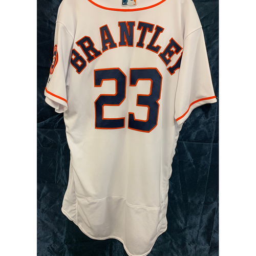 Photo of 2019 Game-Used Los Astros Home White Jersey Michael Brantley - Size 46