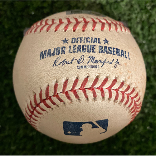 Photo of Howie Kendrick Game Used Hit Single Baseball - September 6, 2019 - Top 1st