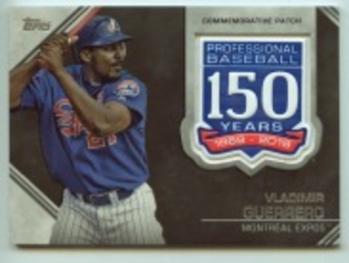 Photo of 2019 Topps Update 150th Anniversary Manufactured Patches #AMPVGU Vladimir Guerrero