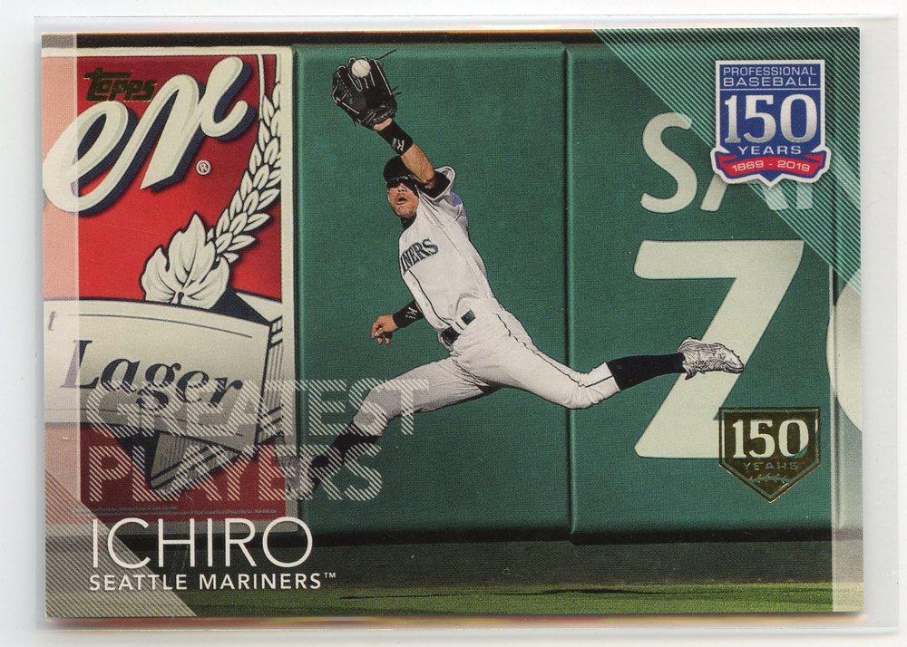 2019 Topps 150 Years of Professional Baseball 150th Anniversary #150100 Ichiro 111/150