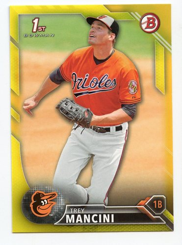 Photo of 2016 Bowman Prospects Yellow #BP38 Trey Mancini