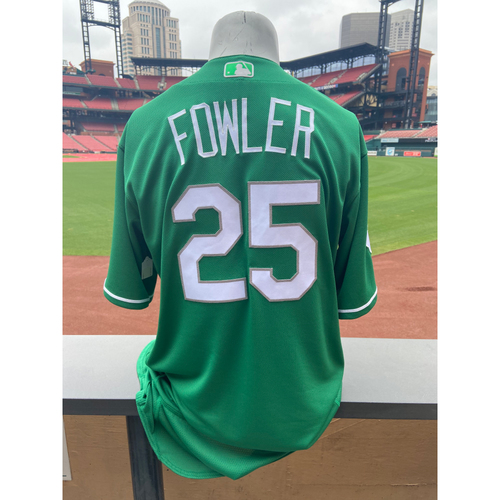 Photo of Cardinals Authentics: Dexter Fowler Game Worn St. Patrick's Day Jersey