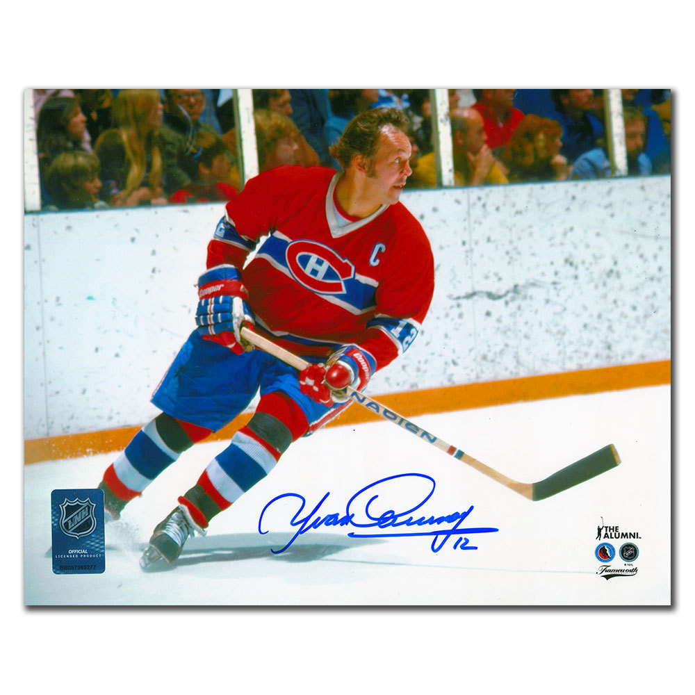 Yvan Cournoyer Montreal Canadiens CAPTAIN Autographed 8x10