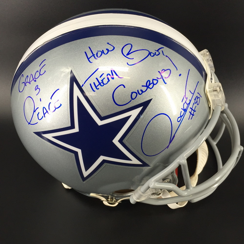 Legends - Cowboys Rocket Ismail Signed Proline Helmet