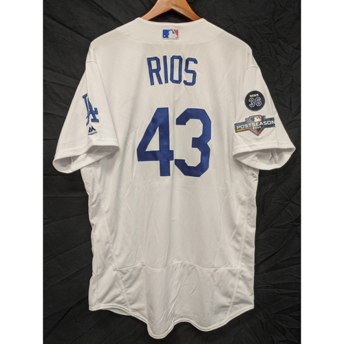 Photo of Edwin Rios Team-Issued 2019 Postseason Home Jersey