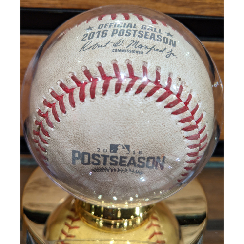 2016 ALDS Game 3 October 10, 2016 Red Sox vs. Indians Game Used Baseball - Pomeranz to Lindor - Fly Out