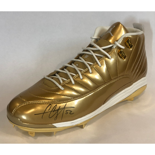 Photo of LOT #47: Autographed Gold Colored CC Sabathia Cleat