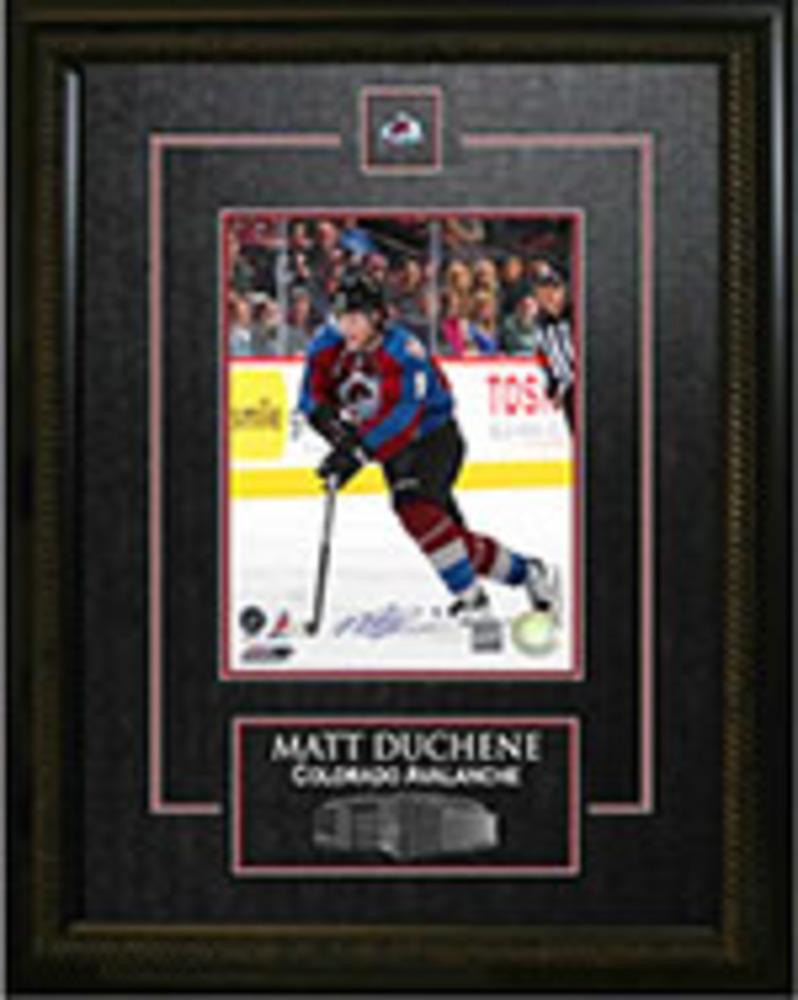 Matt Duchene - Signed & Framed 8x10 Etched Mat - Dark Skating
