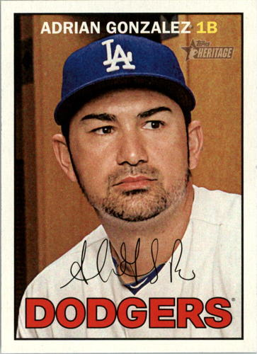 Photo of 2016 Topps Heritage #38 Adrian Gonzalez -- Dodgers post-season