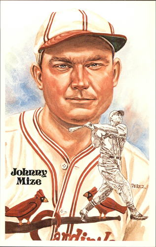 Photo of 1980-02 Perez-Steele Hall of Fame Postcards #176 Johnny Mize -- HOF Class of 1981