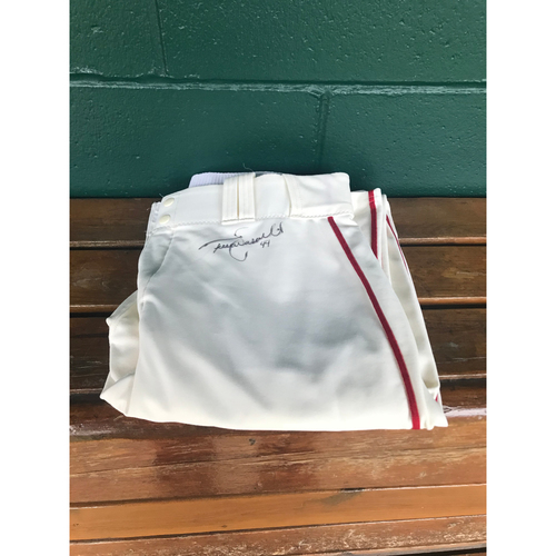 Cardinals Authentics: Trevor Rosenthal Autographed Ivory Pants