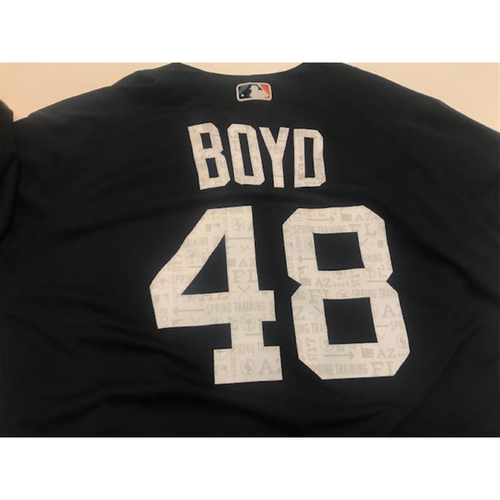Photo of Team-Issued Matthew Boyd Road Spring Training Jersey