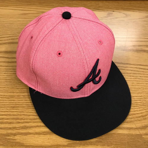 Photo of Sean Newcomb Game-Used Mother's Day Cap