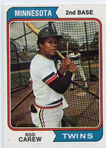 Photo of 1974 Topps #50 Rod Carew  -- Hall of Famer