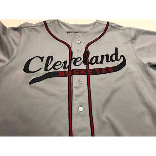 Photo of Team-Issued Cleveland buckeyes Jersey: Brad Mills