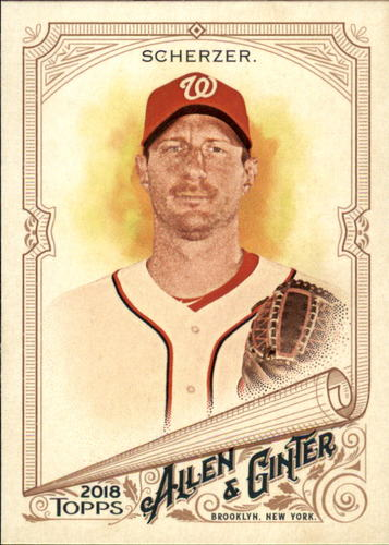 Photo of 2018 Topps Allen and Ginter #40 Max Scherzer