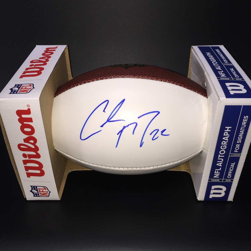 Panthers - Christian McCaffrey Signed Panel Ball