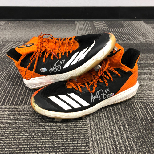 Photo of 2018 Holiday Deal! - Autographed Team Issued Cleats (Player Collected) - #59 Andrew Suarez - Size 11.5
