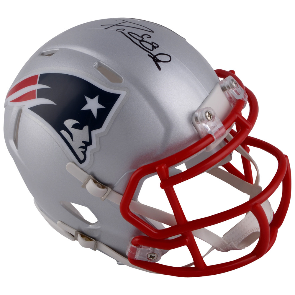 David Pastrnak Boston Bruins Autographed New England Patriots Mini Helmet