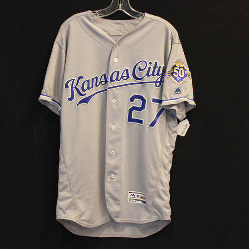 Photo of Game-Used Jersey: Adalberto Mondesi 83rd Career Hit, 12th Career Double and 37th Career RBI (Size 44 - 9/8/18 - KC @ MIN)