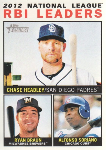 Photo of 2013 Topps Heritage #11 Chase Headley/Ryan Braun/Alfonso Soriano