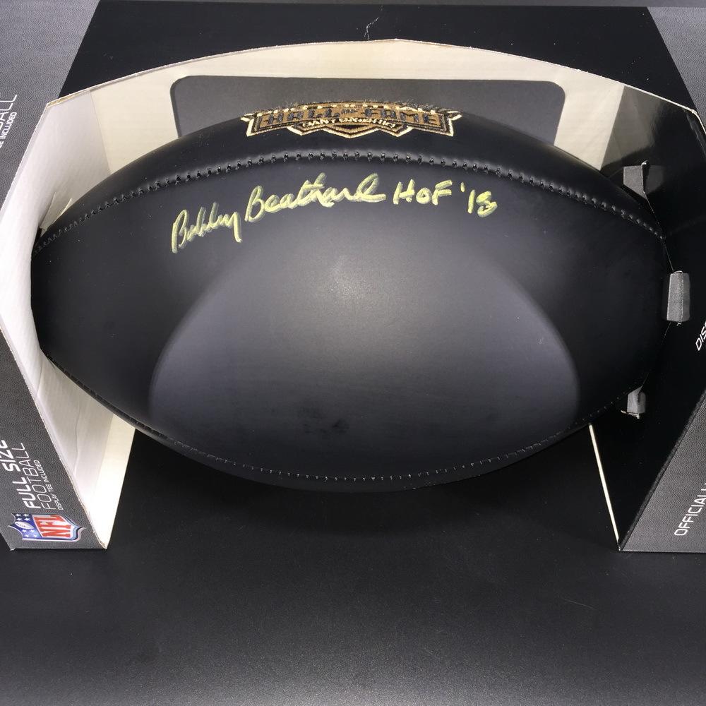 HOF - Redskins Bobby Beathard Signed Commemorative Black Hall of Fame Football