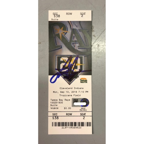 Photo of Autographed Game Ticket: Ji-Man Choi Walk-Off Home Run - September 10, 2018 v CLE