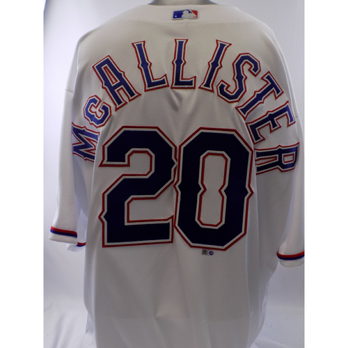 Photo of Team-Issued White Zach McAlister Jersey - Size 48
