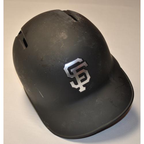 "Photo of Kevin ""KP"" Pillar San Francisco Giants Game-Used 2019 Players' Weekend Helmet"