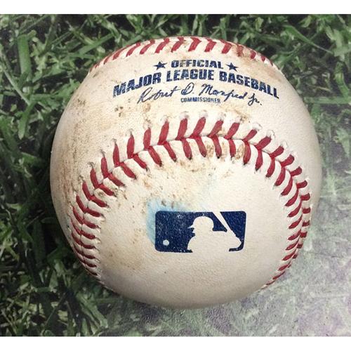 Photo of Game-Used Baseball SEA@MIL 06/26/19 - Wade LeBlanc - Ryan Braun: Single