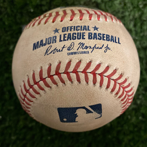 Photo of Victor Robles Game Used Hit Single Baseball - September 6, 2019