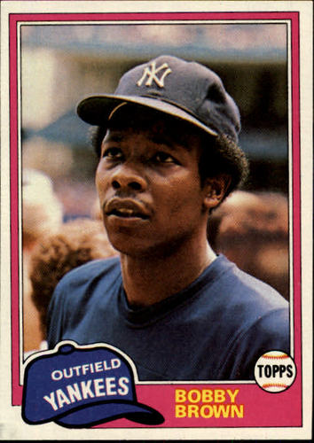 Photo of 1981 Topps #418 Bobby Brown