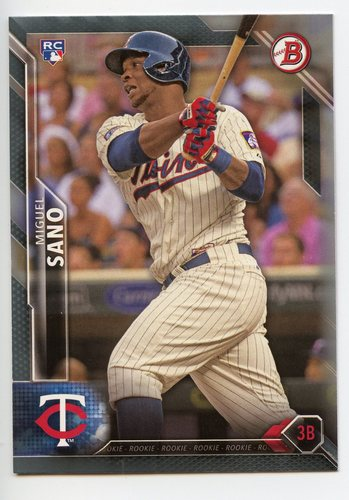 Photo of 2016 Bowman Silver #140 Miguel Sano