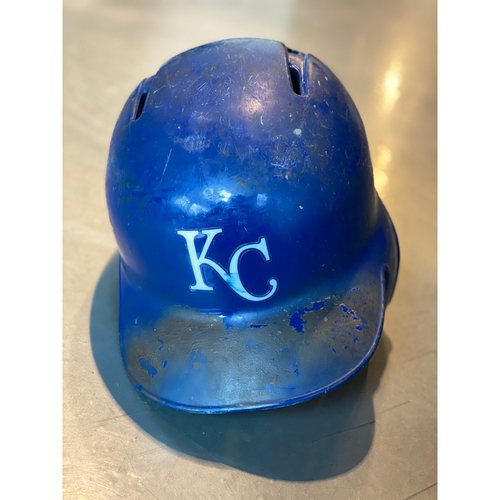 Photo of Game-Used Helmet: Hunter Dozier (Size 7 3/8 - MIN @ KC - 9/28/19)