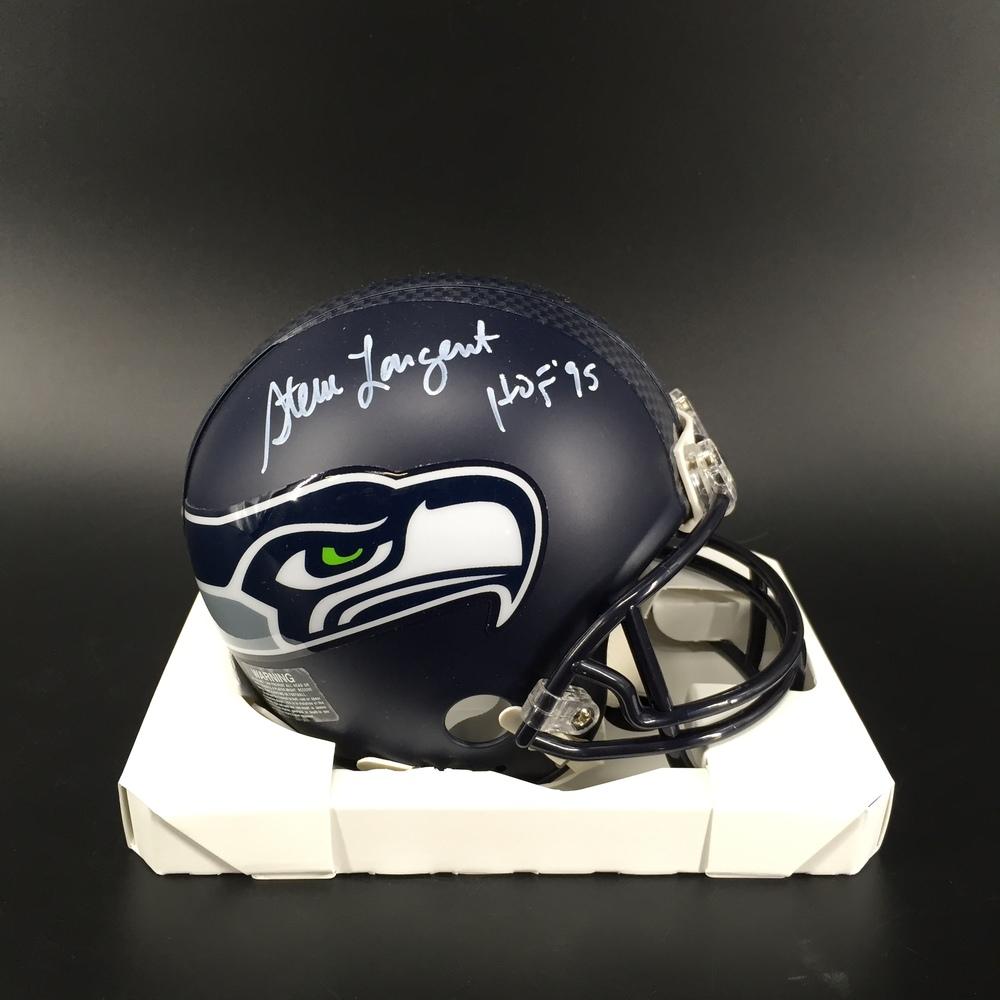 HOF - Seahawks Steve Largent Signed Mini Helmet