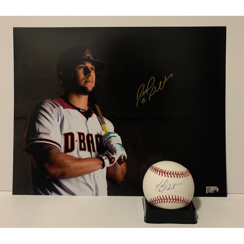 Photo of David Peralta Autographed 11x14 and Ball