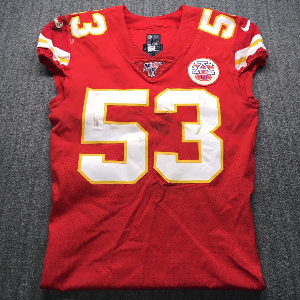 NFL Auction | STS - Chiefs Anthony Hitchens Signed Game Used ...