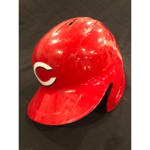 Photo of Phillip Ervin -- 2020 Game-Used Helmet -- Worn for Reds Opening Day on July 24 vs. Tigers -- Helmet Scheduled to Arrive Prior to Dec 24