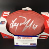 NFL - Saints Larry Warford Signed Authentic Football with 100 Seasons Logo
