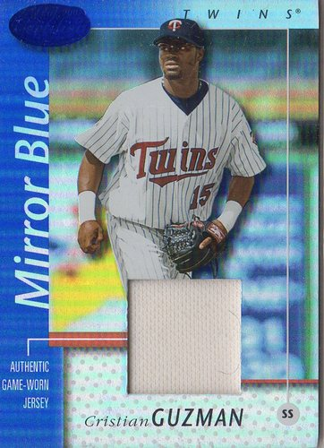 Photo of 2002 Leaf Certified Mirror Blue #107 Cristian Guzman Jsy
